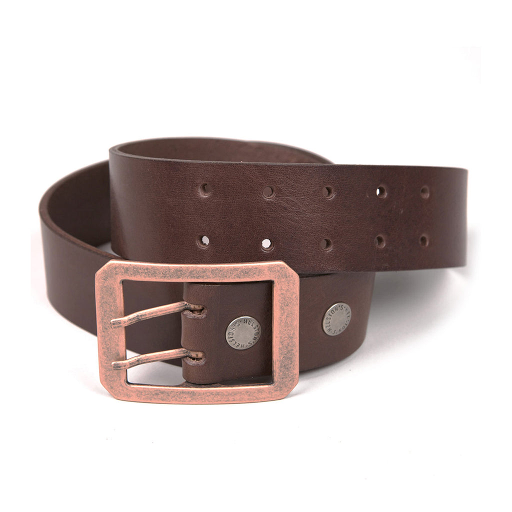 Helstons Double D Belts Black, Brown or Tan Leather