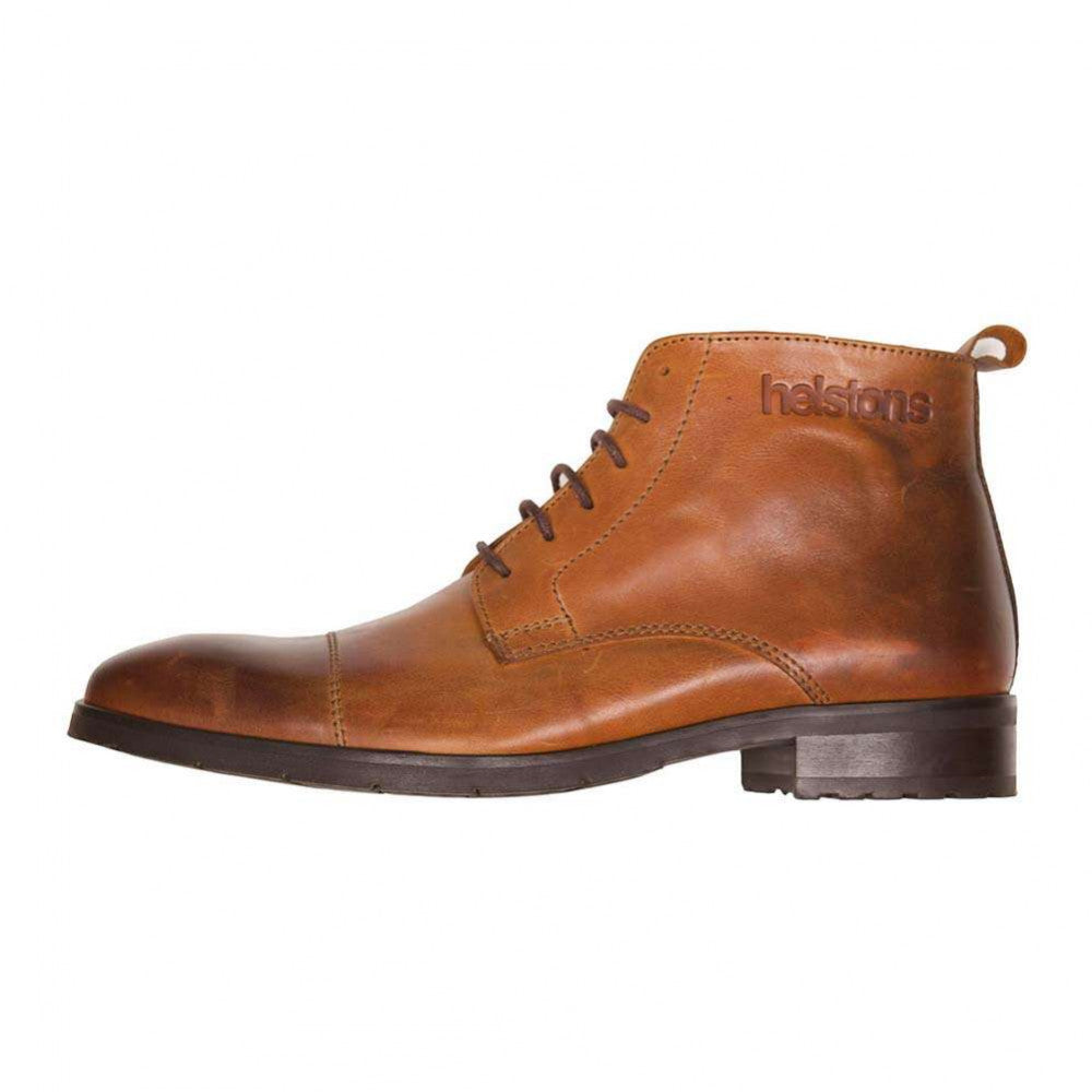 Helstons HERITAGE Leather Motorcycle Boot - Camel