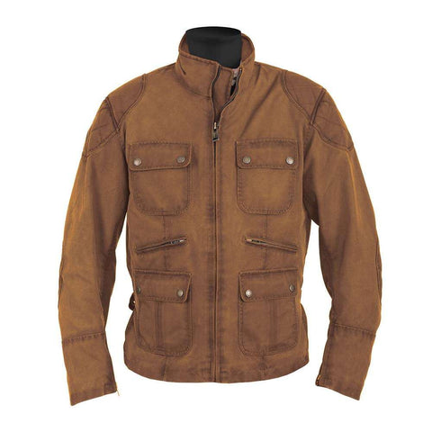 Helstons HUNT Waxed Cotton Motorcycle Jacket - Oak
