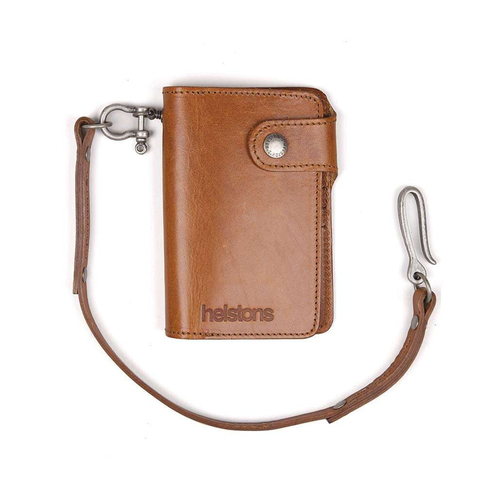 Helstons MOON leather wallet with Lanyard - Tan