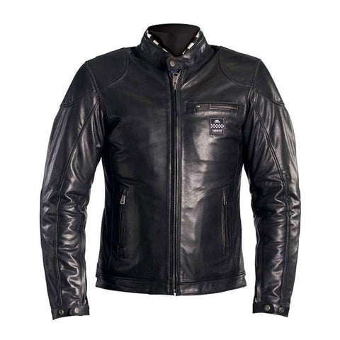 Helstons ROAD Leather Motorcycle Jacket - Black