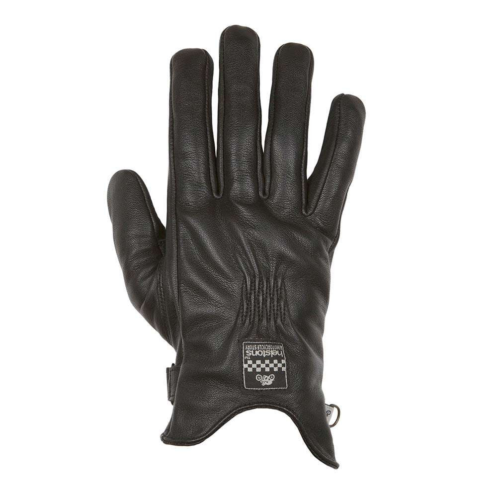 Helstons SWALLOW Ladies Leather Summer Motorcycle Glove - Black