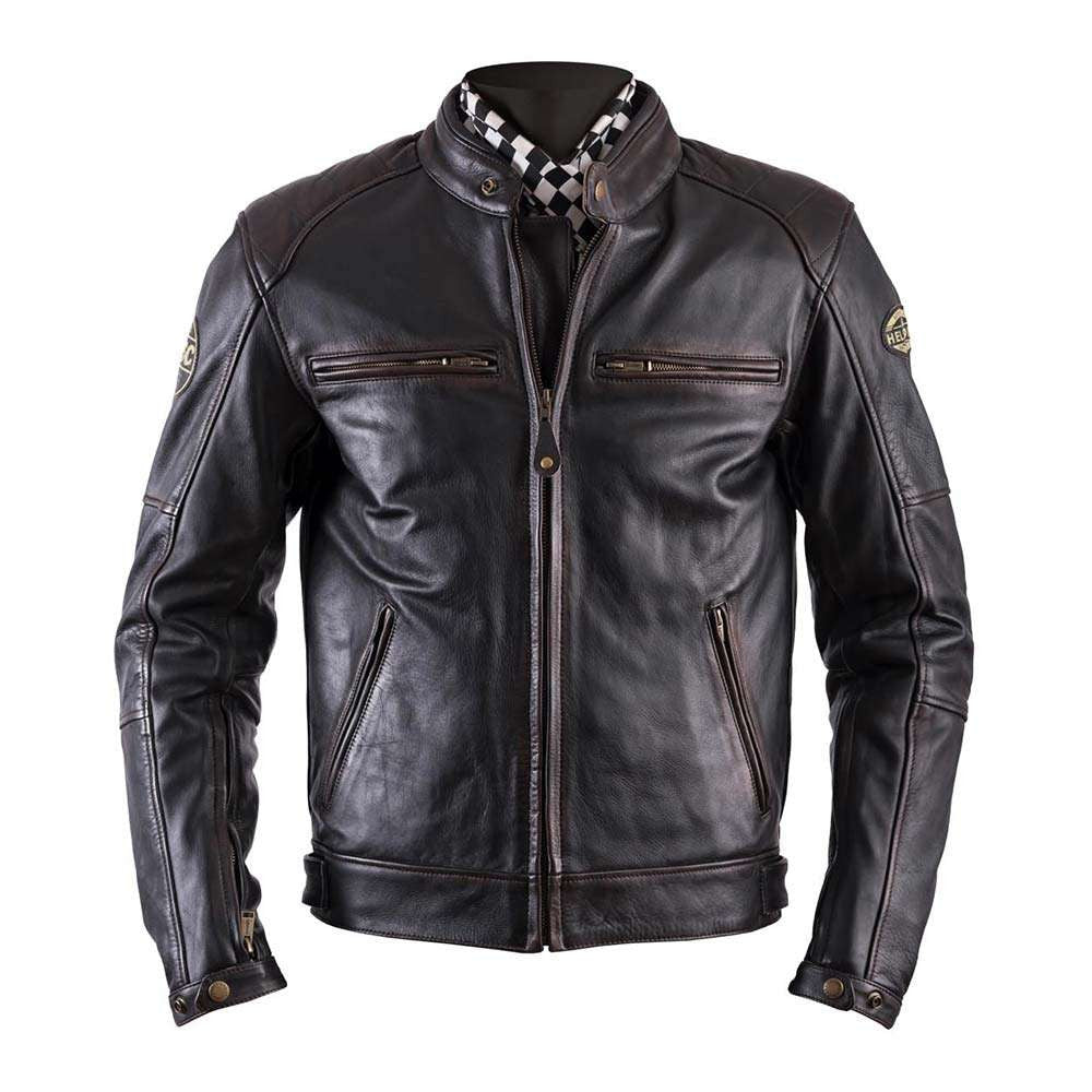 Helstons TRACK Oldies Leather Motorcycle Jacket