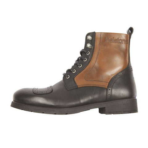Helstons TRAVEL Leather Motorcycle Boot - Black/Tan