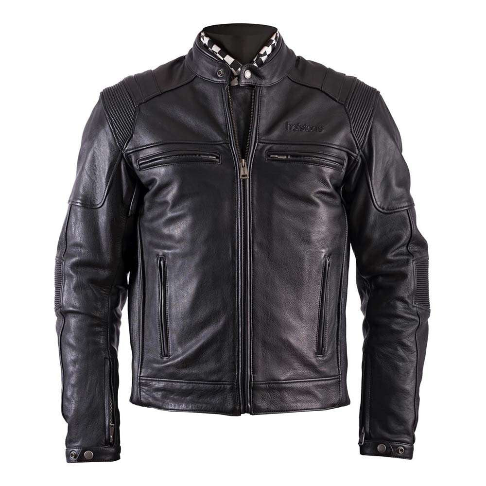 Helstons TRUST Leather Motorcycle Jacket - Black