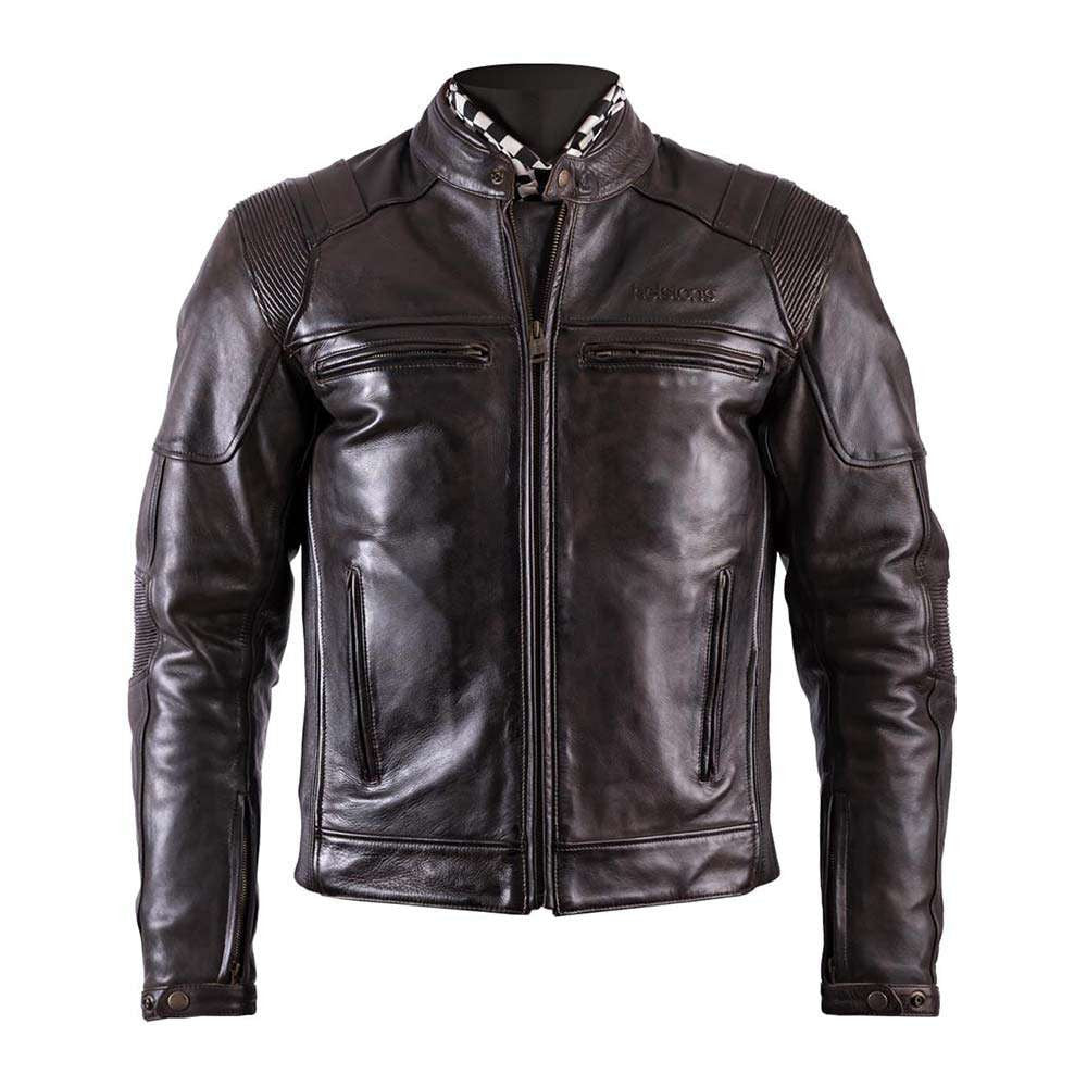 Helstons TRUST Leather Motorcycle Jacket - Brown
