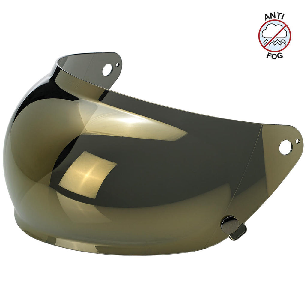 Biltwell Gringo S Bubble Visor - Gold Mirror - Anti Fog