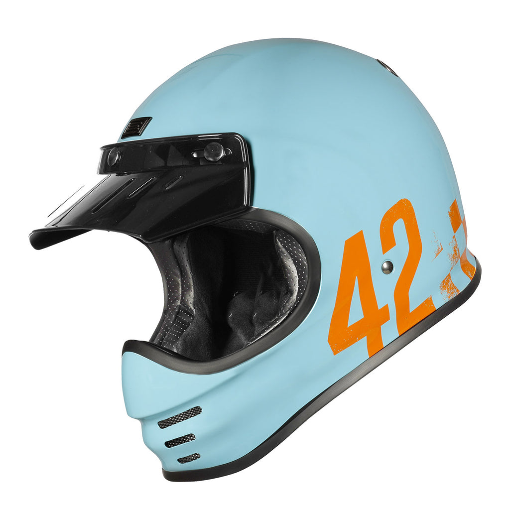 Origine Virgo MC Motorcycle Helmet - Danny Light Blue