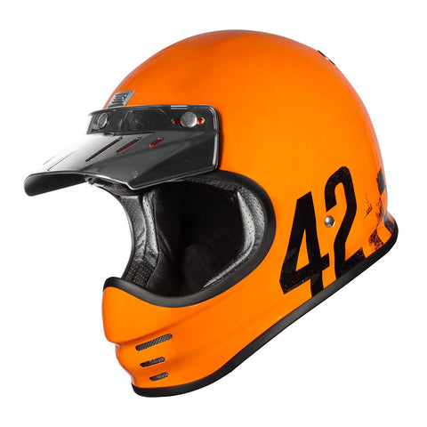 Origine Virgo MC Motorcycle Helmet - Danny Orange