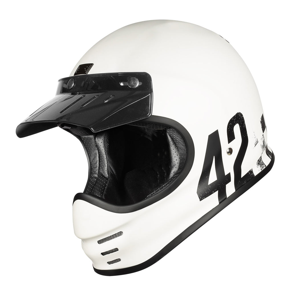 Origine Virgo MC Motorcycle Helmet - Danny Matt White