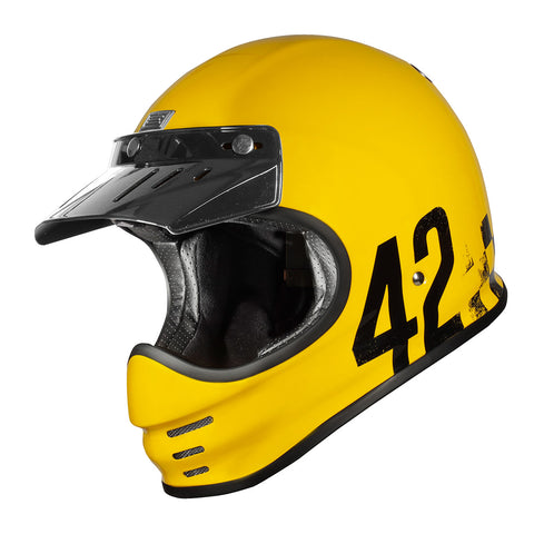 Origine Virgo MC Motorcycle Helmet - Danny Yellow
