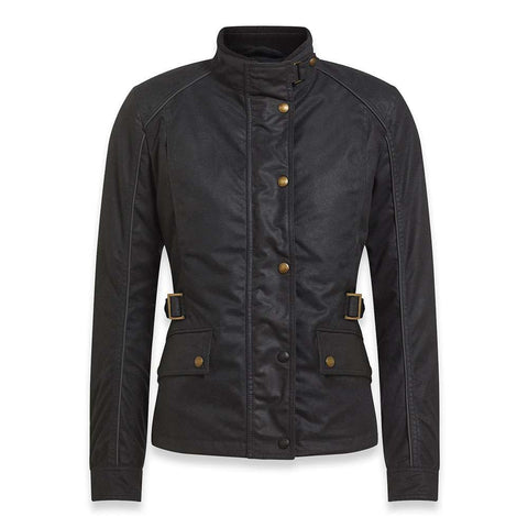 Belstaff Tourmaster PRO - Ladies Technical Wax Motorcycle Jacket - Black