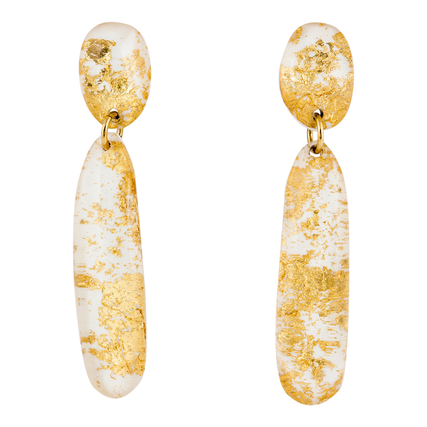 Rita's Dangling Earrings - Pure White / Les Boucles de Rita
