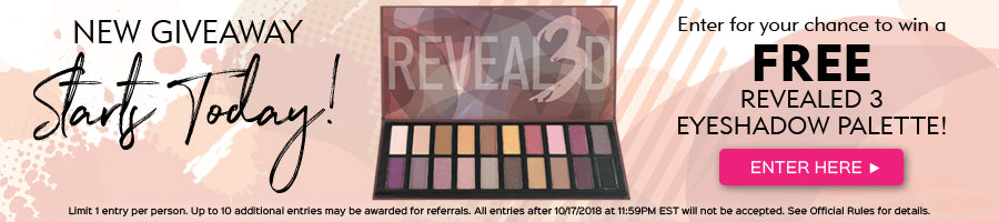 Enter to win a FREE Revealed 3 Palette