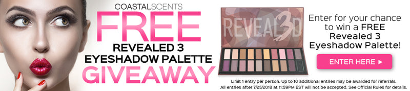 Enter to win a FREE Revealed 3 Eyeshadow Palette