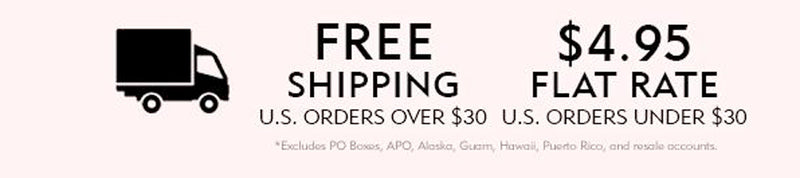 FREE SHIPPING FOR ALL US DOMESTIC ORDERS OVER $30!