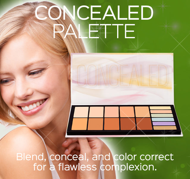 Concealed Palette- Blend, conceal, and color correct for a flawless complexion.
