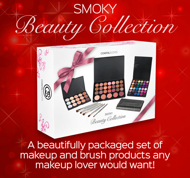 Beauty Collection Smoky- A beautifully packaged set of makeup and brush products any makeup lover would want!