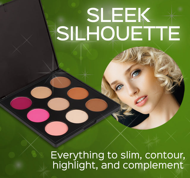 Sleek Silhouette Palette- Everything to slim, contour, highlight, and complement
