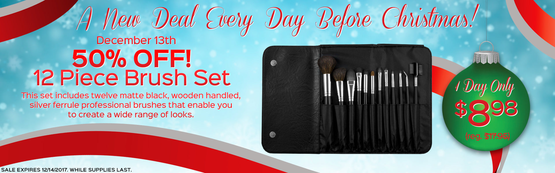 A New Deal Every Day Before Christmas! 12 Piece Brush Set Now Only $8.98, Reg. $17.95 - 1 Day Only!
