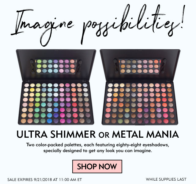 88 Metal Mania and 88 Ultra Shimmer Palettes