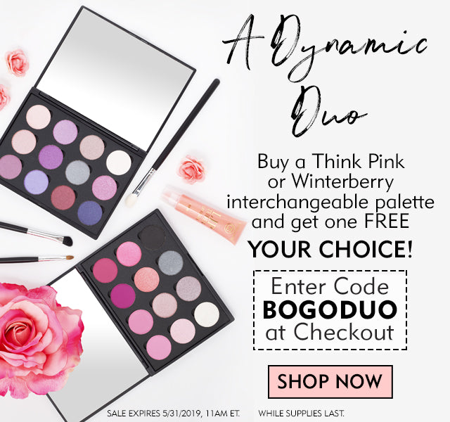 Buy One Palette, Get One Free! Your choice of Winterberry or Think Pink
