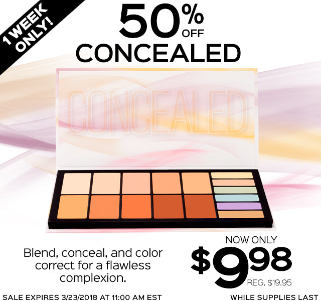 50% Off Concealed. Now Only $9.98 each, Reg. $19.95!
