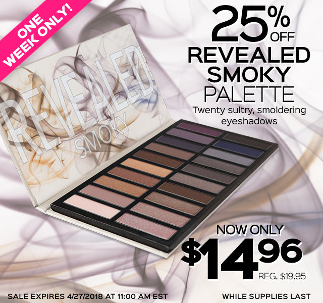 25% Off Revealed Smoky Palette! Now Only $14.96