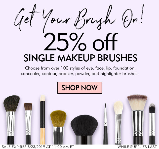25% Off All Single Makeup Brushes