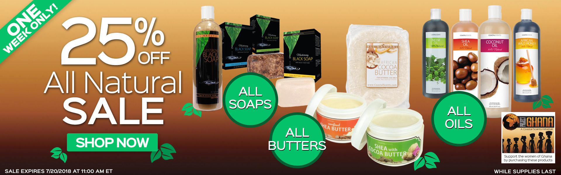 25% Off All Natural Products