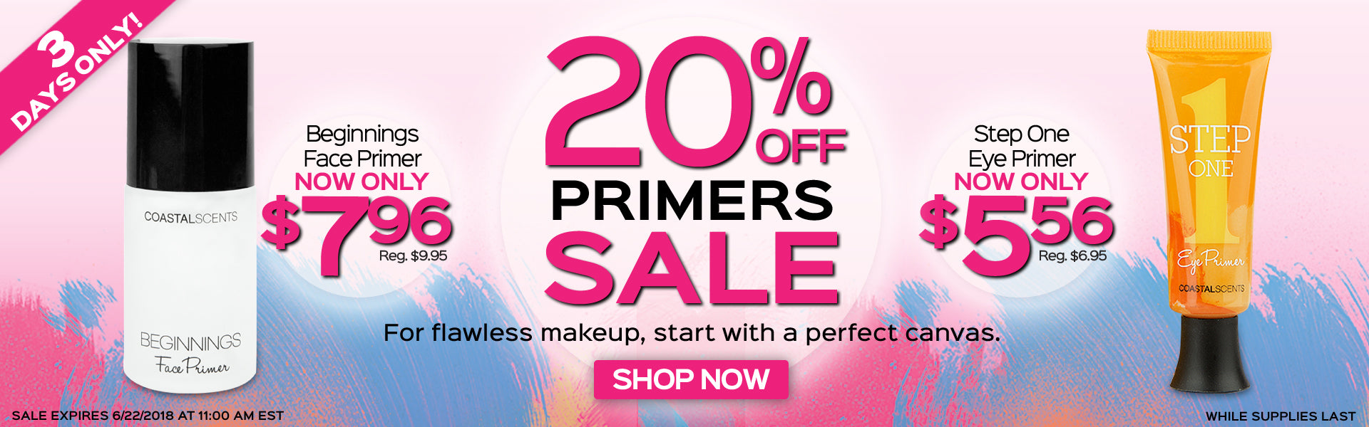 20% Off Primers Sale