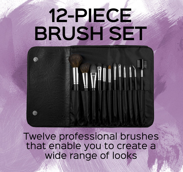12-Piece Makeup Brush Set