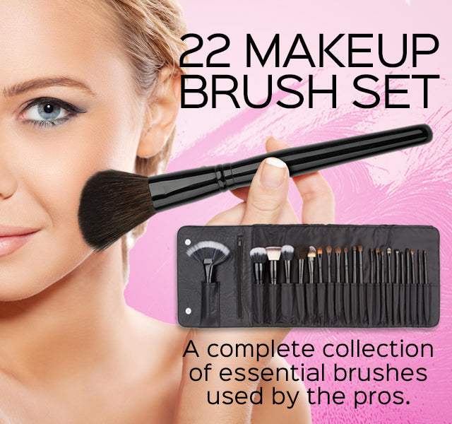 22-Piece Makeup Brush Set