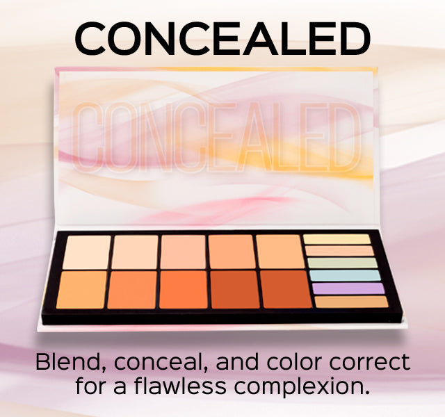 Concealed Palette. Blend, conceal, and color correct for a flawless complexion.