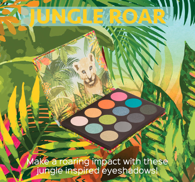 Jungle Roar. Make a roaring impact with these jungle inspired eyeshadows!