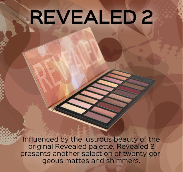 Revealed 2 Eyeshadow Palette. Influenced by the lustrous beauty of the original Revealed palette, Revealed 2 presents another selection of twenty gorgeous mattes and shimmers.