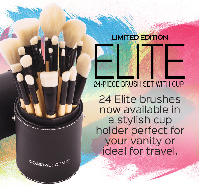 NEW! Limited Edition Elite 24-Piece Brush Set with Cup