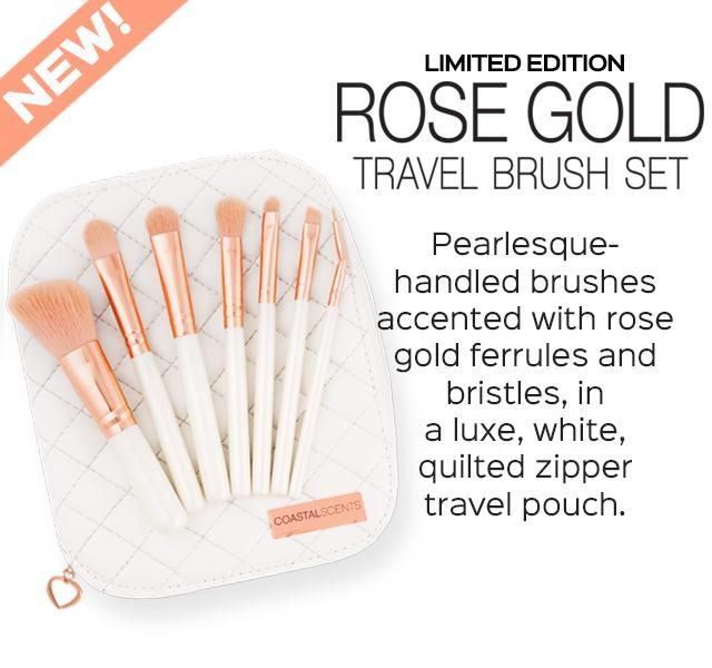 NEW! Limited Edition Rose Gold Travel Brush Set