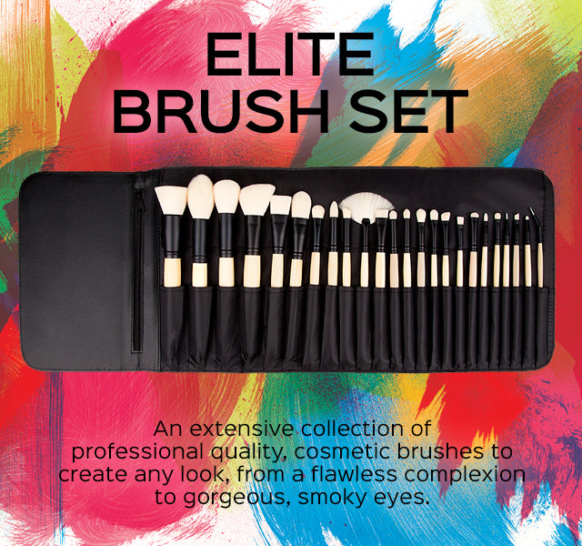 Elite Brush Set. An extensive collection of professional quality, cosmetic brushes to create any look.