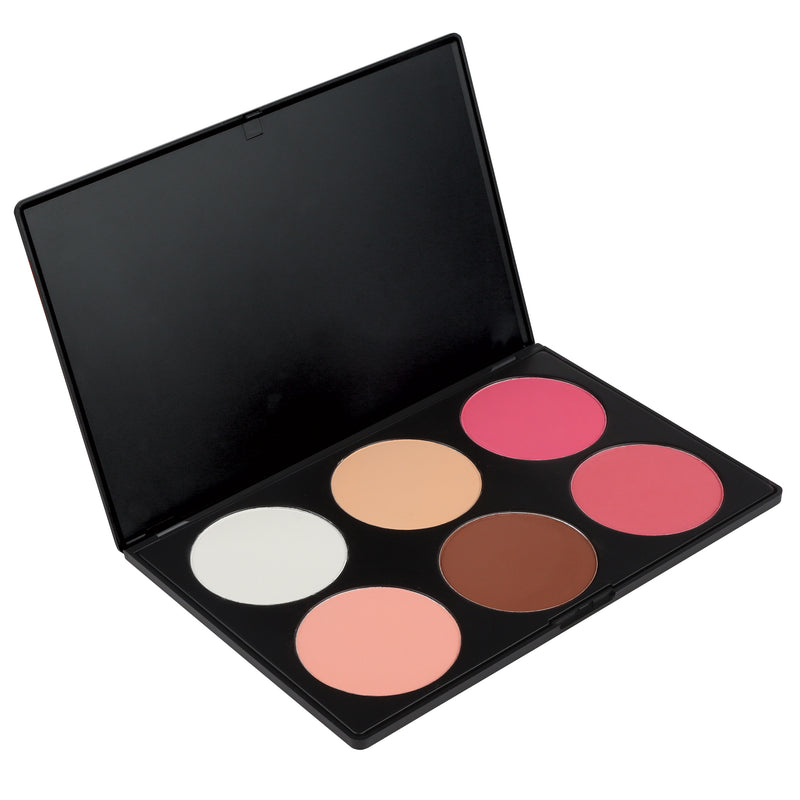 Makeup Palette - 6 Contour Blush Palette By Coastal Scents