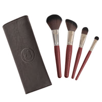 Makeup Brushes - 4 Piece Makeup Brush Set With Case By Coastal Scents