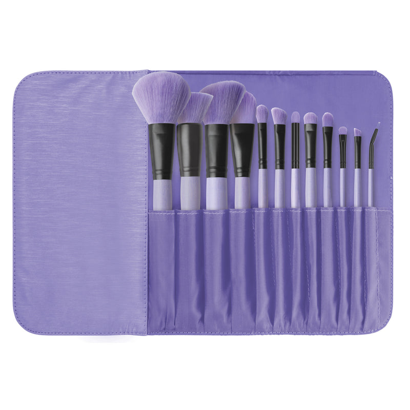 Brush Affair Collection 12 Piece Makeup Brush Set in Orchid By Coastal Scents