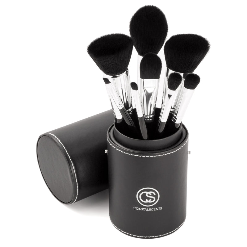 Midnight Raven 8 Piece Makeup Brush Set By Coastal Scents