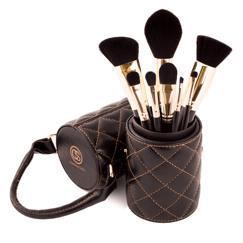 Majestic 8-Piece Makeup Brush Set By Coastal Scents