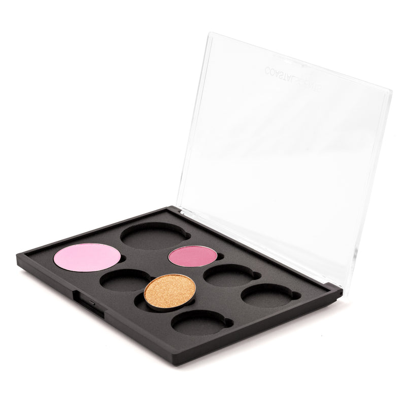 Makeup -Empty Palette: 2 Blushes and 6 Shadows By Coastal Scents - Interchangeable Palette: Empty Palette: 2 Blushes and 6 Shadows