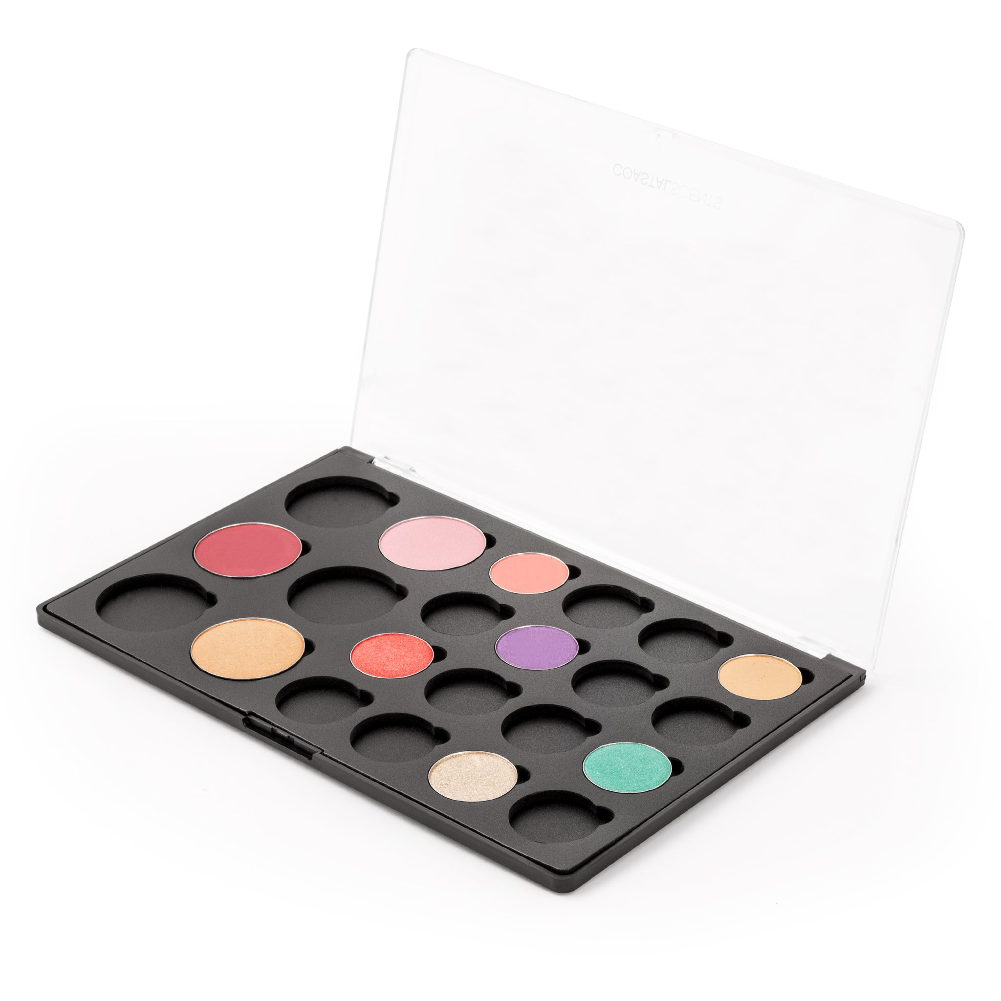 Makeup Palette- Empty Palette: 6 Blushes and 16 Shadows With Hotpots By Coastal Scents