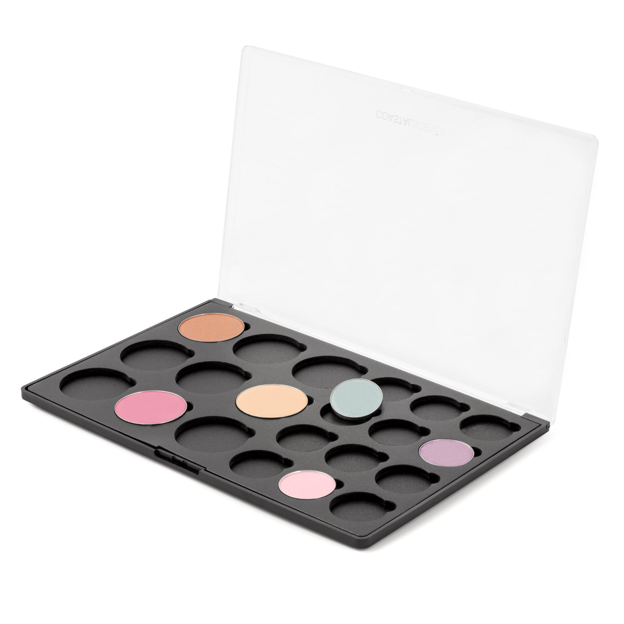 Makeup Palette- Empty Palette: 9 Blushes and 12 Shadows With Hotpots By Coastal Scents
