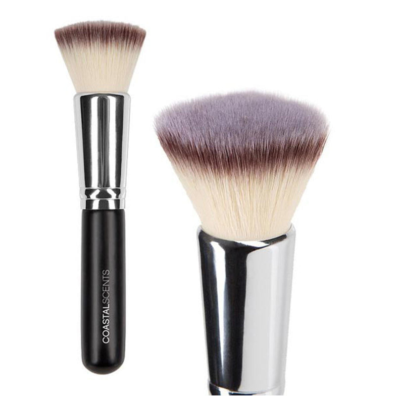 Makeup Brushes - Bionic Flat Top Buffer Brush By Coastal Scents