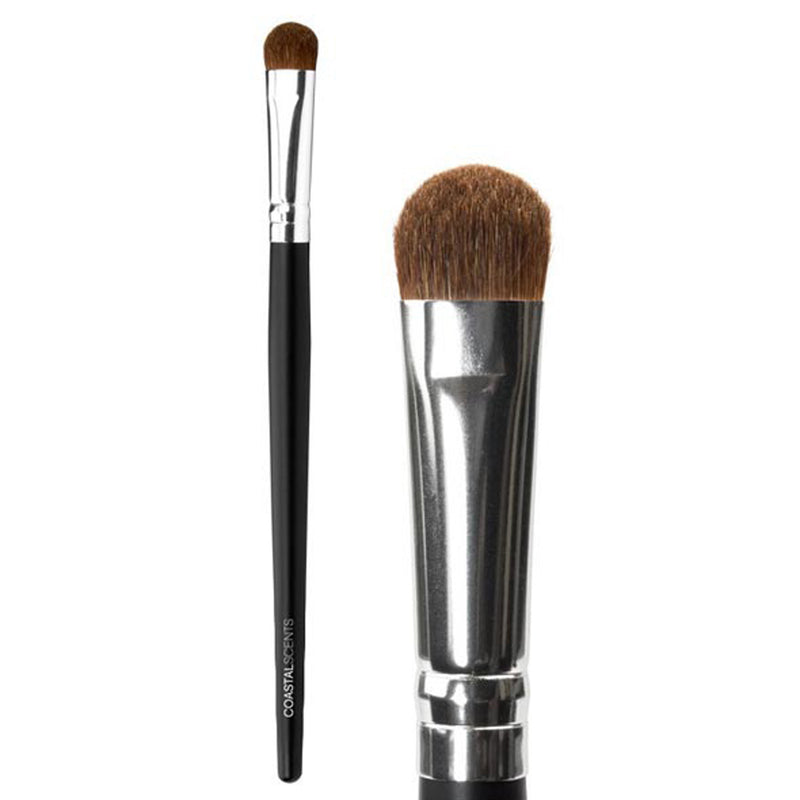 Makeup Brushes - Classic Shadow Brush Medium Natural By Coastal Scents