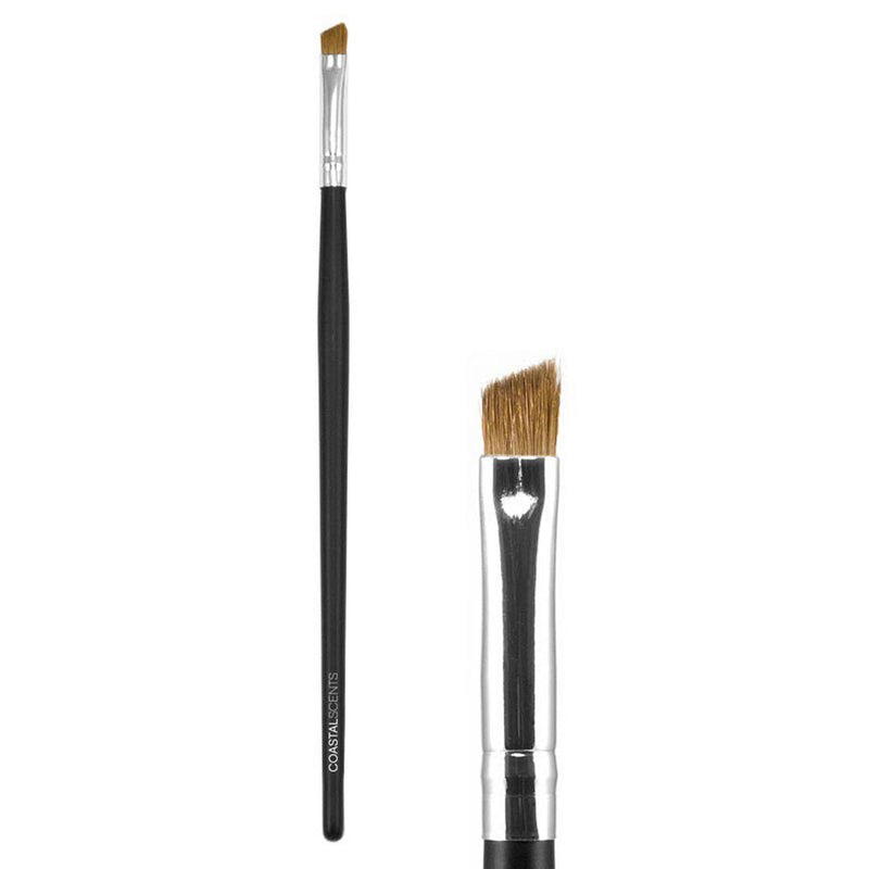 Makeup Brushes - Classic Angled Liner Brush Medium Natural By Coastal Scents